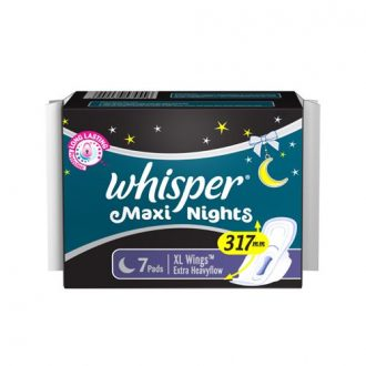 Whisper Sanitary Pads Maxi Nights XL Wings